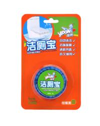 >Blue automatic toilet bowl cleaner ESN-058