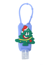 >Christmas Series Silicone Hand Sanitizer Bottle Holder